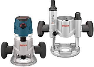 Bosch 2.3 HP Combination Plunge & Fixed-Base Variable Speed Router Pack